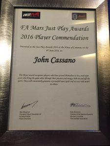 John Cassano certificate